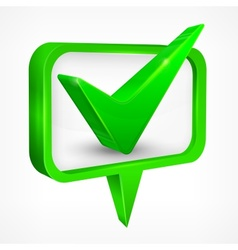 Check mark green vector image