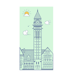City hall toronto canada vector