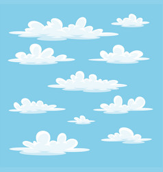 Collection of some different cartoon clouds vector