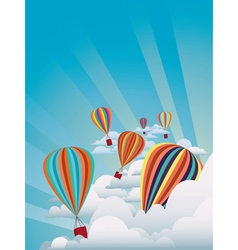 Colorful hot air balloons2 vector image