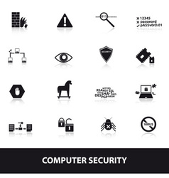 Computer security icons eps10 vector