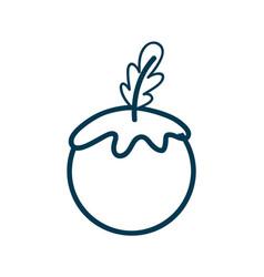 Contour healthy tomato vegetable icon vector