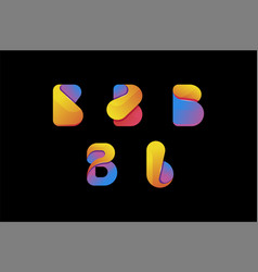 creative colorful letter b logo set vector image