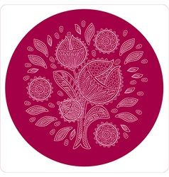 Decorative flower in circle ornament vector image
