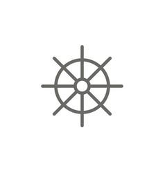 Dharma wheel symbol icon spiritual concept vector