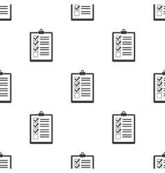 Document icon in black style isolated on white vector image