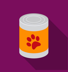 Dog food icon in flat style for web vector