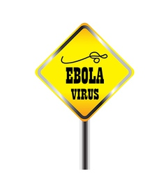 Ebora virus warning sign vector image