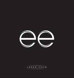 Ee initial letter split lowercase logo modern vector
