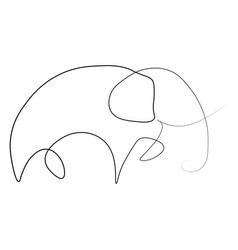 elephant one line vector image