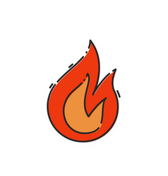 flat fire icon vector image