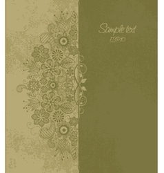 Floral motif 1 vector