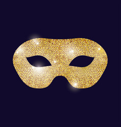 Gold mask carnival festival design vector