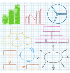 Graphs and Diagrams on Squared Paper vector image