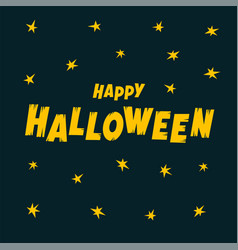 happy halloween text banner cartoon happy vector image