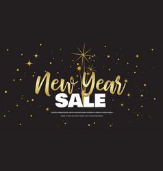 Happy new year sale vector