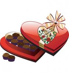 heart chocolate box vector image