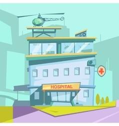 Hospital Cartoon Background vector