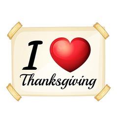 I love Thanksgiving vector