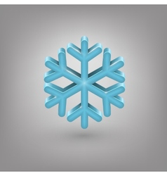 Icon weather Snowflake vector image