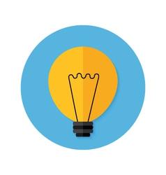 Idea lamp flat circle icon vector