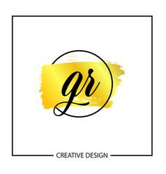 initial letter gr logo template design vector image