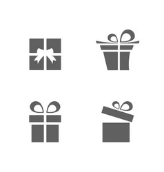 isolated gifts icons set on white background vector image