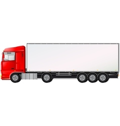 isolated red truck on white background vector image