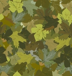 khaki background with autumn leaves vector image