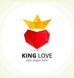 King love logo vector