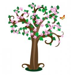 leafy tree vector image