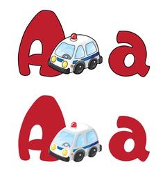 Letter A ambulance vector
