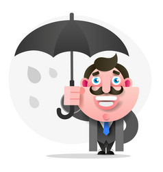 man with umbrella for your design vector image