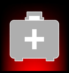 medical first aid box vector image