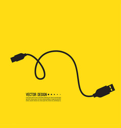 micro usb cable vector image