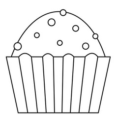 Muffin cake icon outline style vector
