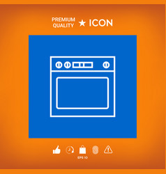 Oven linear icon vector
