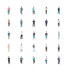 People character flat pack vector