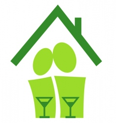 Pictogram housewarming vector