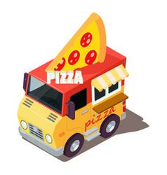 Pizza machine icon isometric style vector