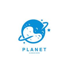 Planet logo designs communications worldwide vector