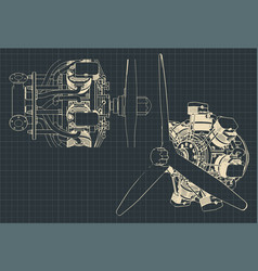 Radial engine vector