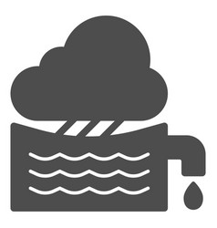 Rainwater tank solid icon water container vector