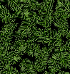 Retro background with branches of palm vector image