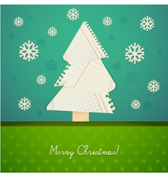 ripped paper christmas design vector image