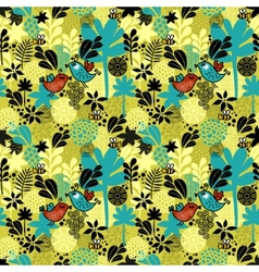 Round pattern with birds vector image vector image