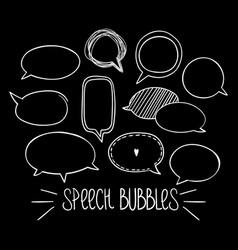 Round speech bubbles 2-03 vector