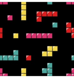 seamless pattern with tetris elements vector image