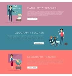Set of School Education Banners vector