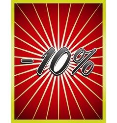 Stylish Big Sale poster banner or flyer design vector image